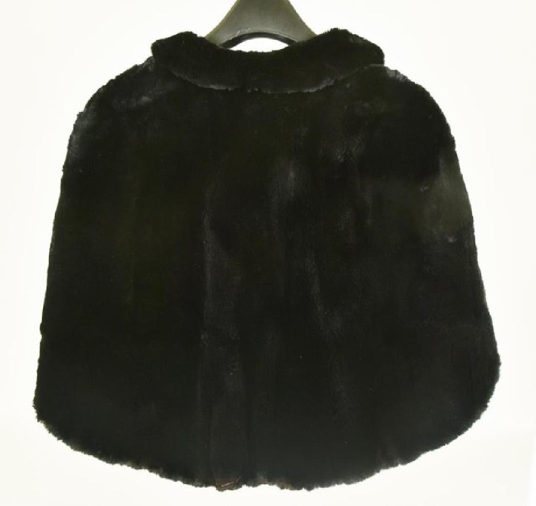Black Fur Cape - 2
