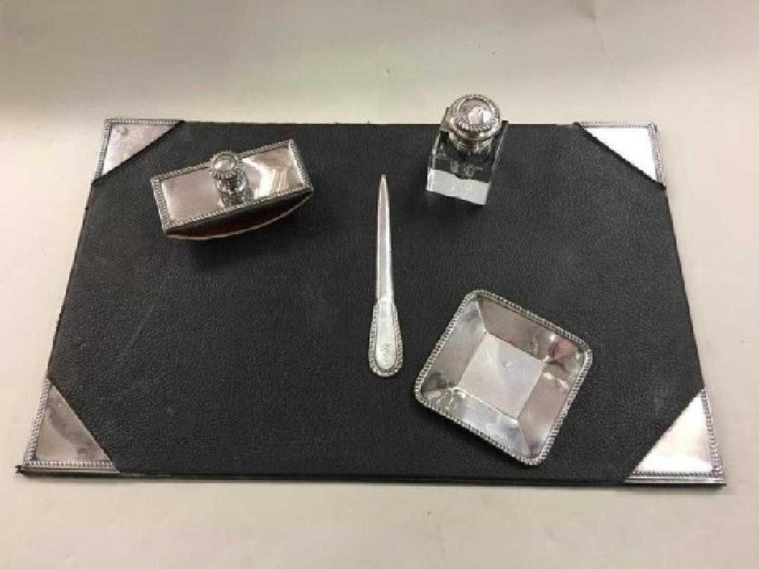 Cartier Sterling Desk Set