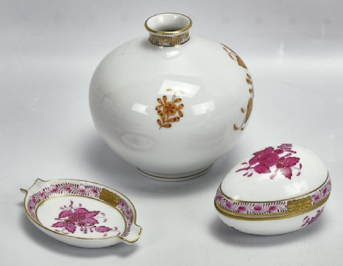 3 Pieces of Herend Porcelain