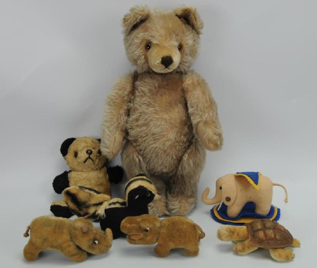 Five Steiff Toys & Two Bears