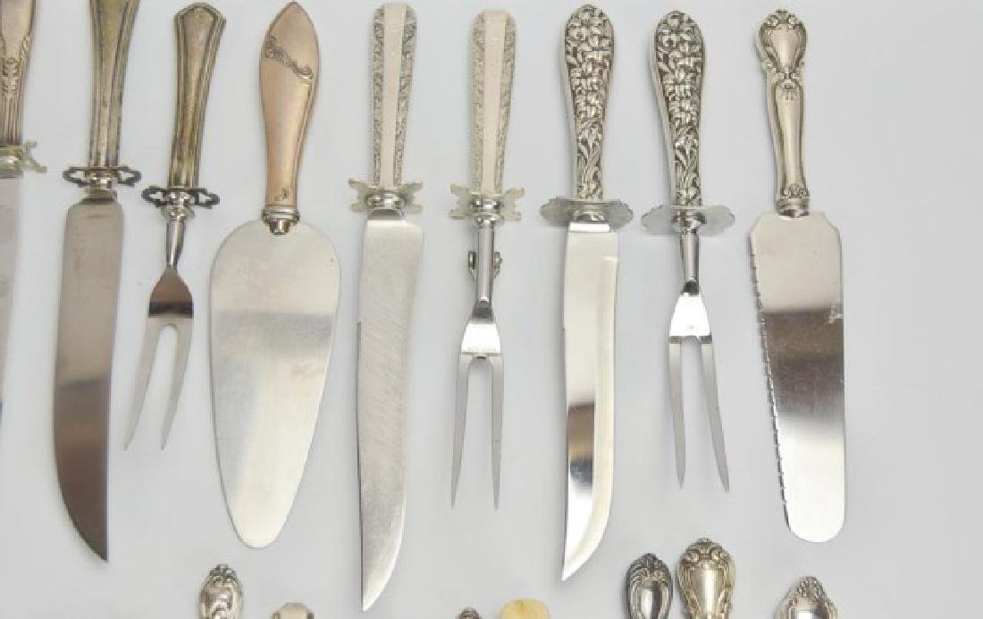 21 Utensils with Sterling Handles - 2