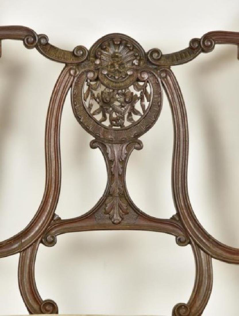 French Mahogany Double Chair Back Settee - 4