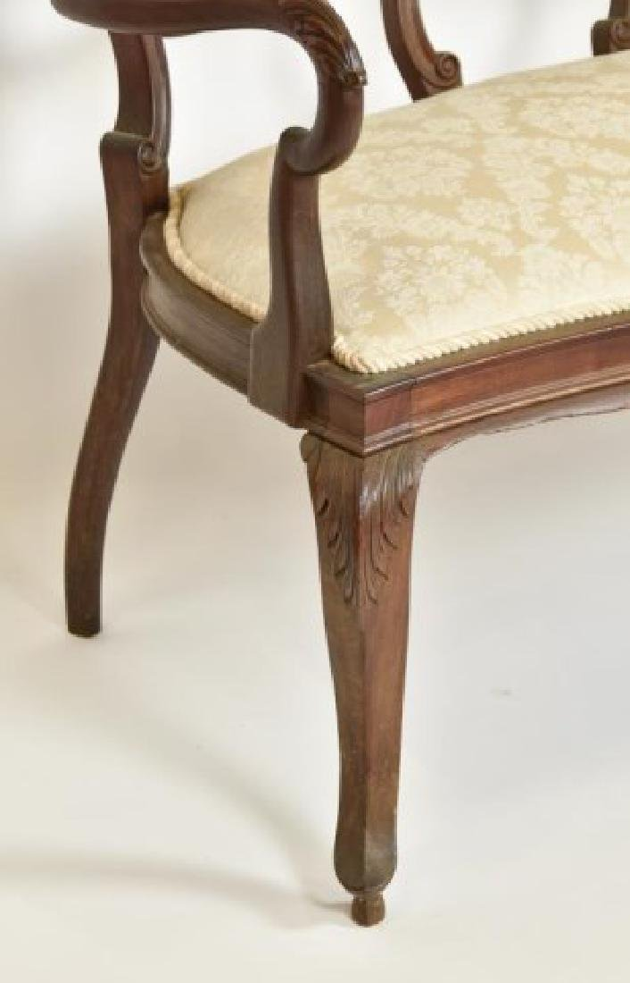 French Mahogany Double Chair Back Settee - 6