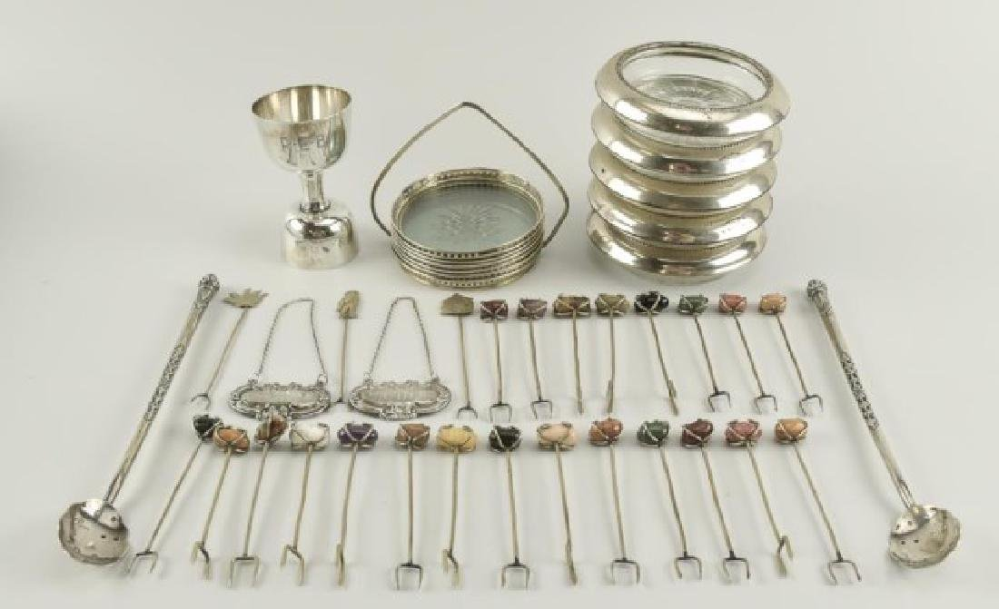 Lot of Sterling & Other Bar Related Items