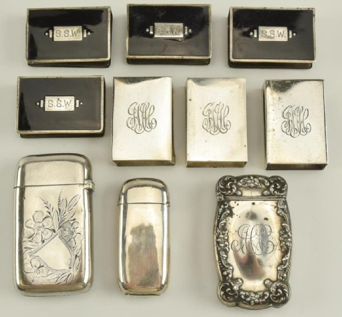 Sterling Match Safes and Matchbook Covers