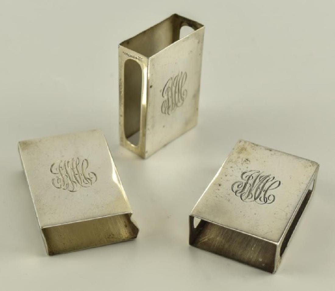 Sterling Match Safes and Matchbook Covers - 2