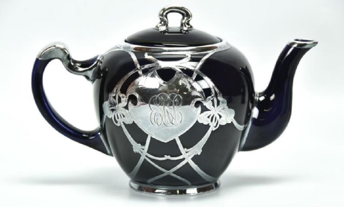 4 Pcs. Sterling Overlay Lenox Cobalt Porcelain - 3