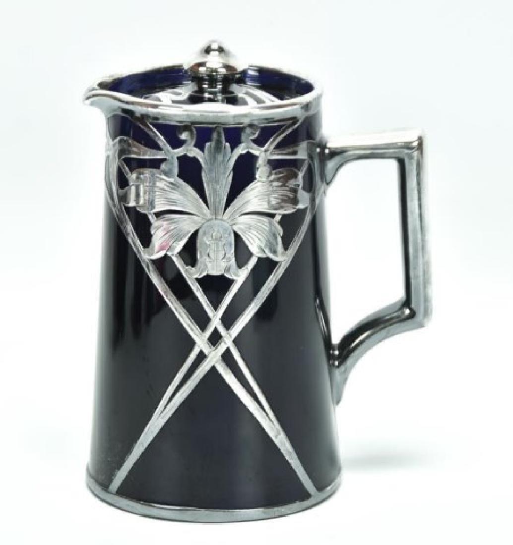 4 Pcs. Sterling Overlay Lenox Cobalt Porcelain - 5