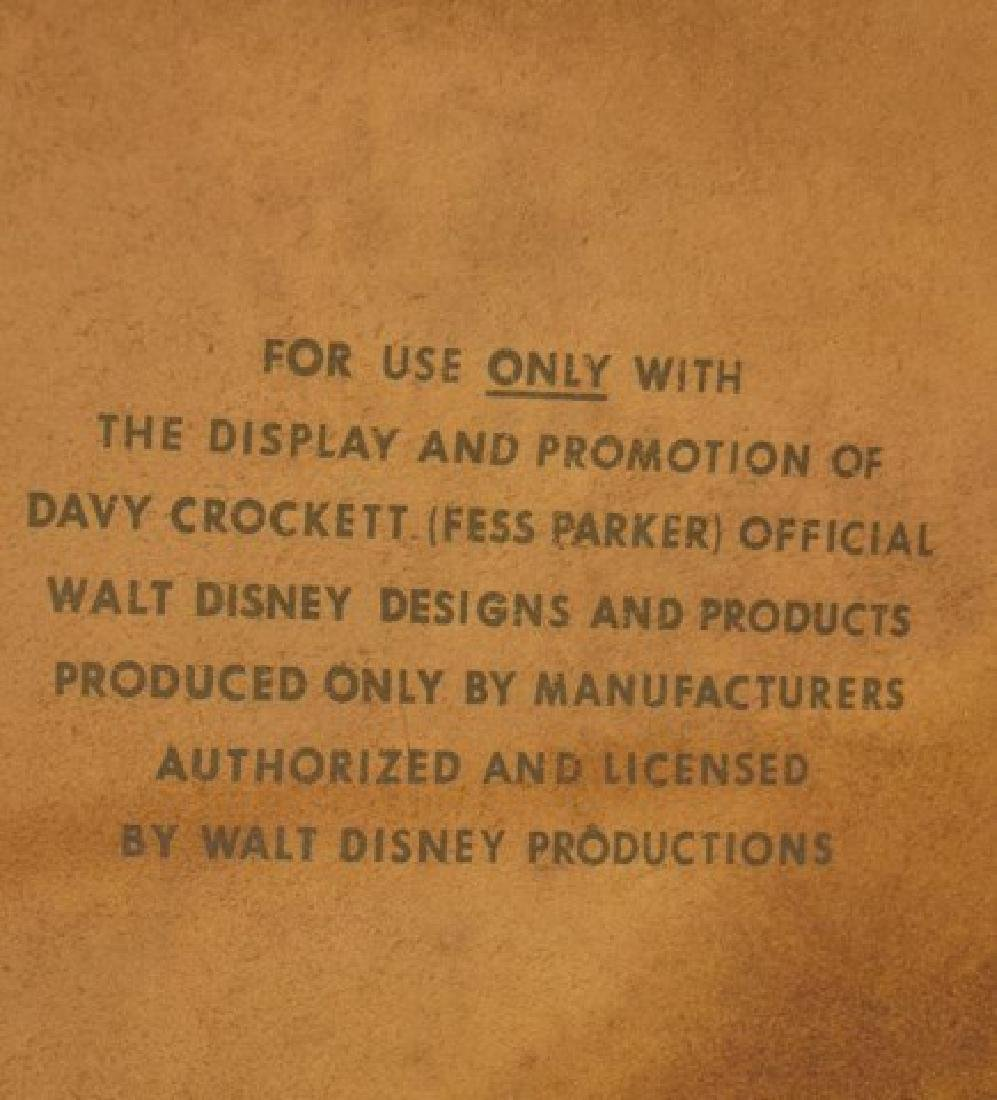 Walt Disney Davy Crockett Leather Display Sign - 5