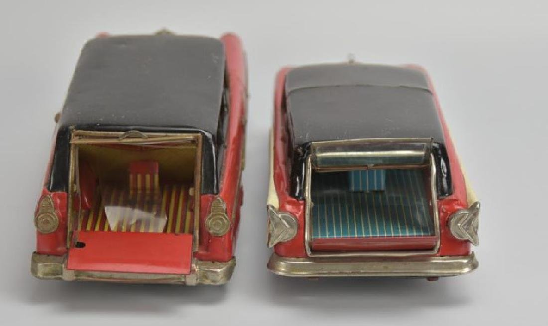 2 Japanese Tin Litho Friction Station Wagons - 3