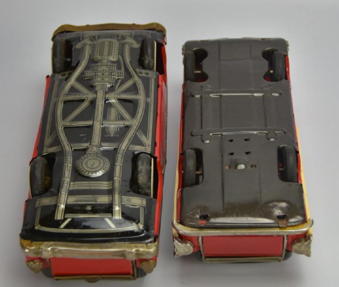 2 Japanese Tin Litho Friction Station Wagons - 4