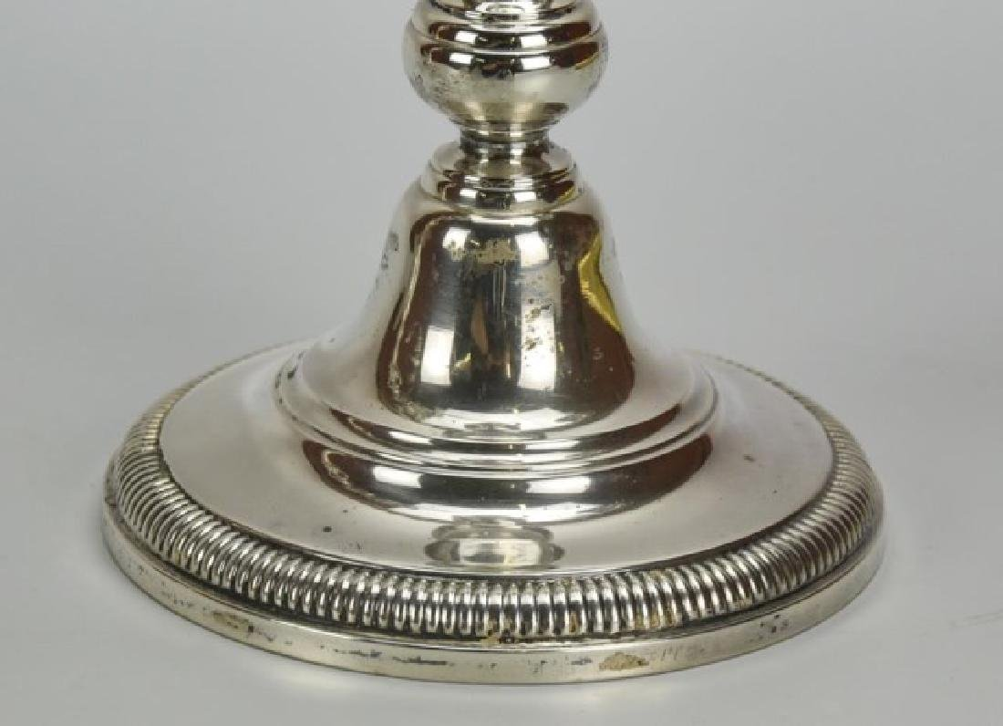 Pair of Ellmore Sterling Silver Candelabra - 2