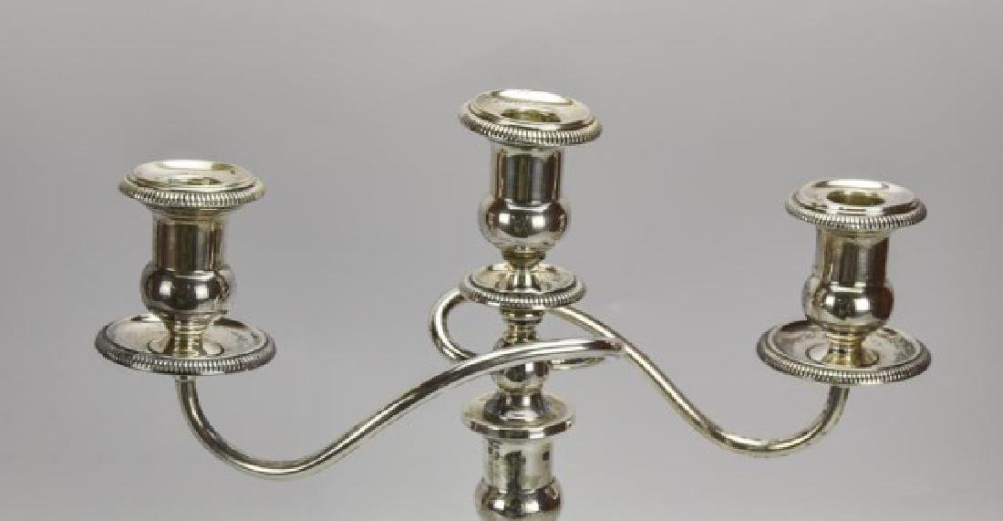 Pair of Ellmore Sterling Silver Candelabra - 3