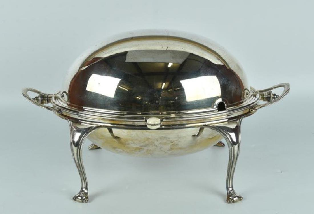 Antique Silver Plated Server / Bacon Warmer