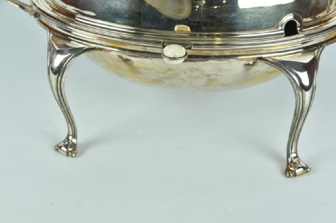 Antique Silver Plated Server / Bacon Warmer - 2