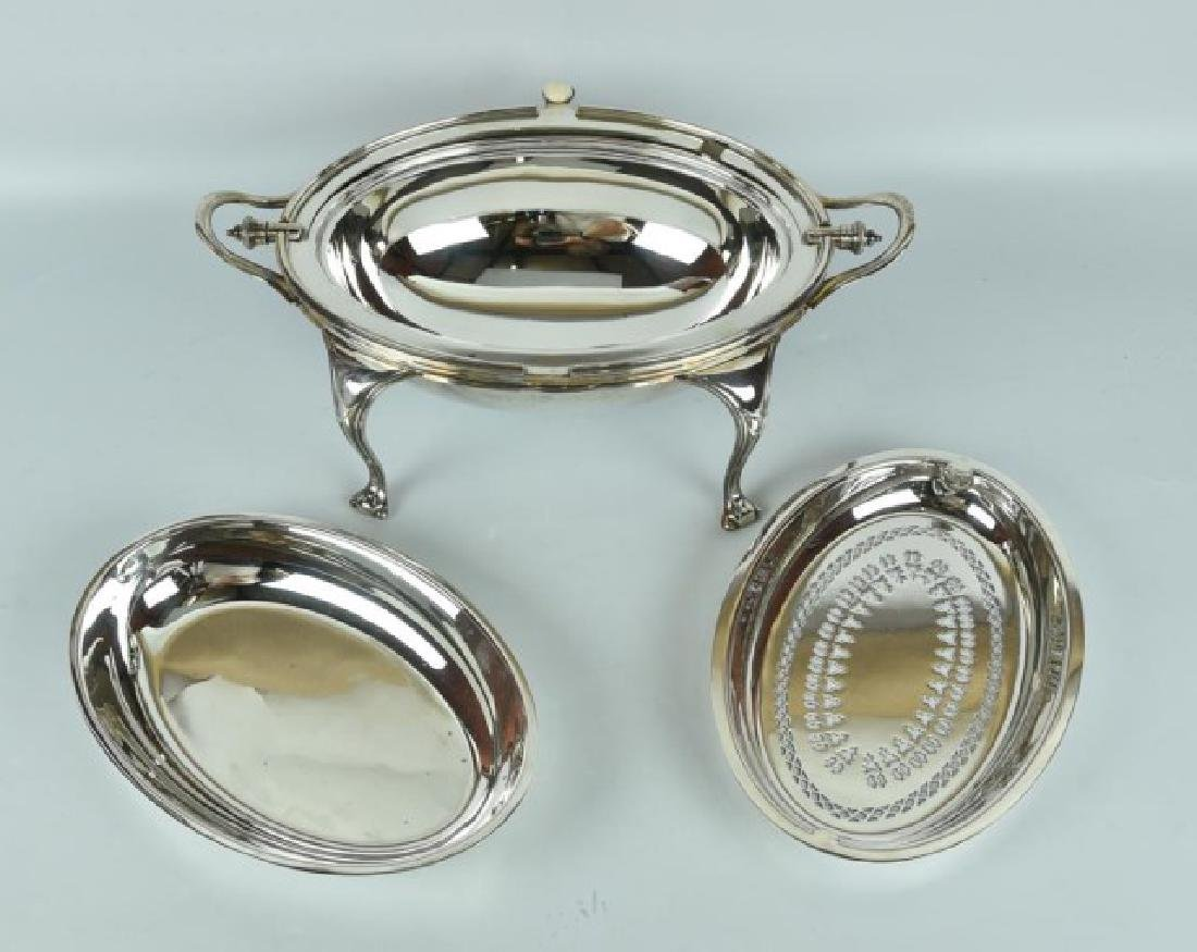 Antique Silver Plated Server / Bacon Warmer - 6