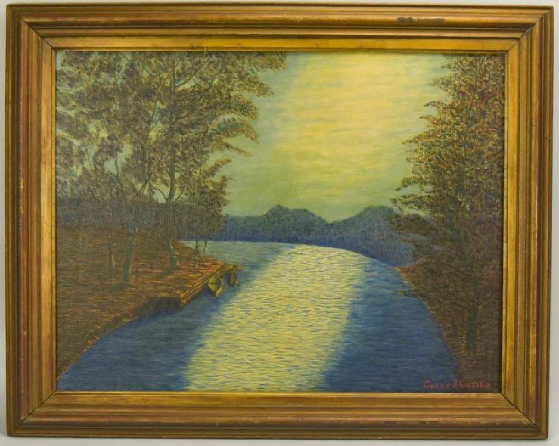 Cyrus J. Lozier Oil on Canvas