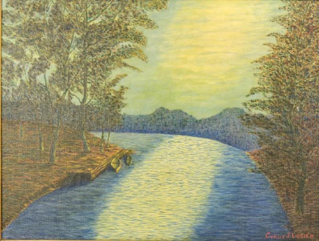 Cyrus J. Lozier Oil on Canvas - 2