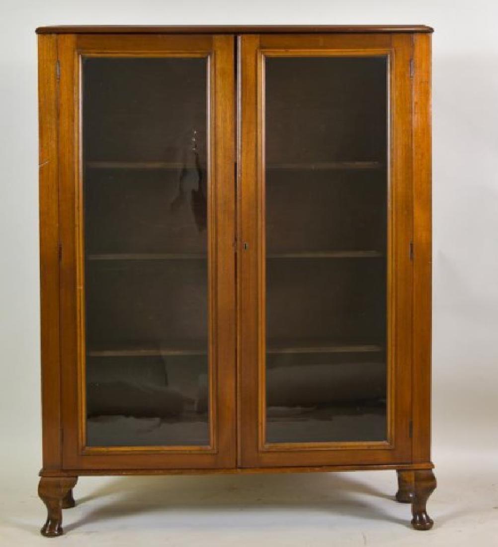 Walnut Two-Door Bookcase