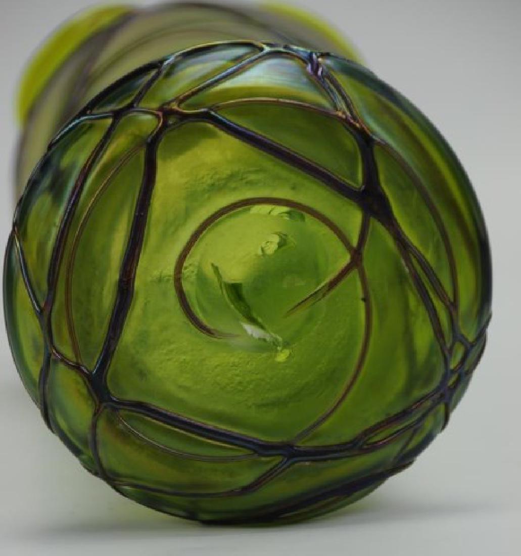 2 Glass Vases--Loetz Style and Simon Pearce - 5