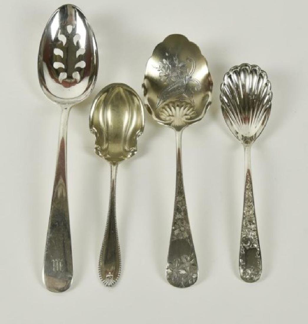 Ten American Sterling Serving Spoons - 2