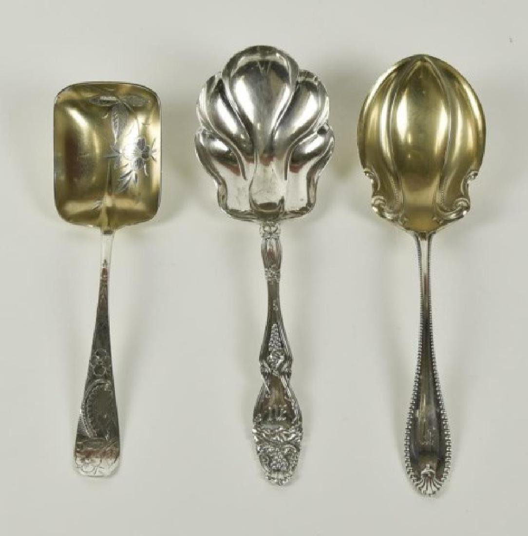 Ten American Sterling Serving Spoons - 3