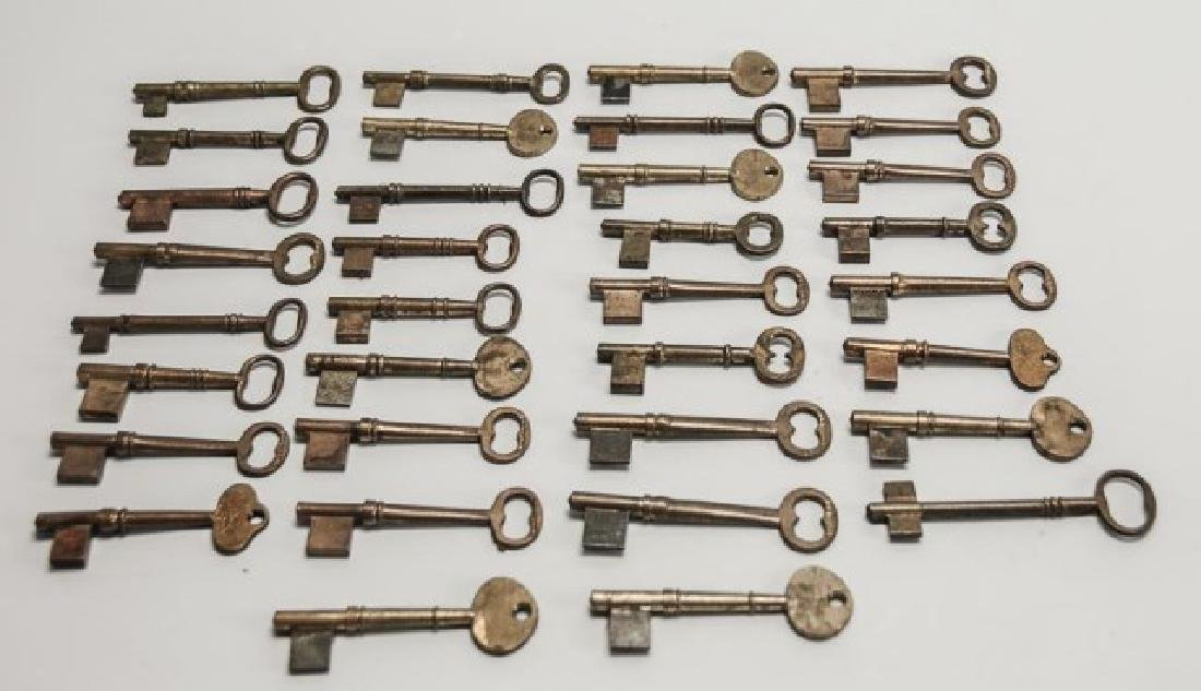 34 Antique Brass Skeleton Key Blanks