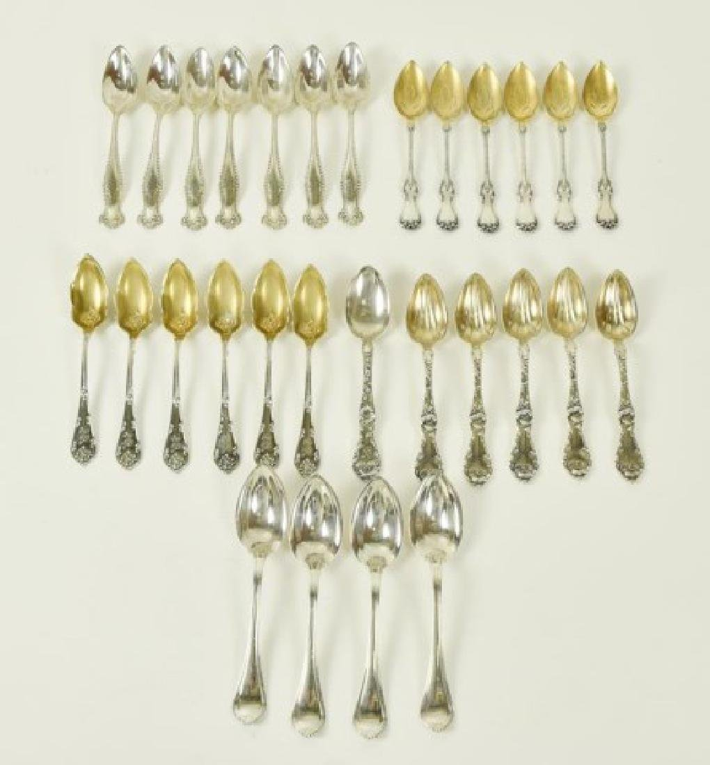 Five Sets of Sterling Citrus Spoons