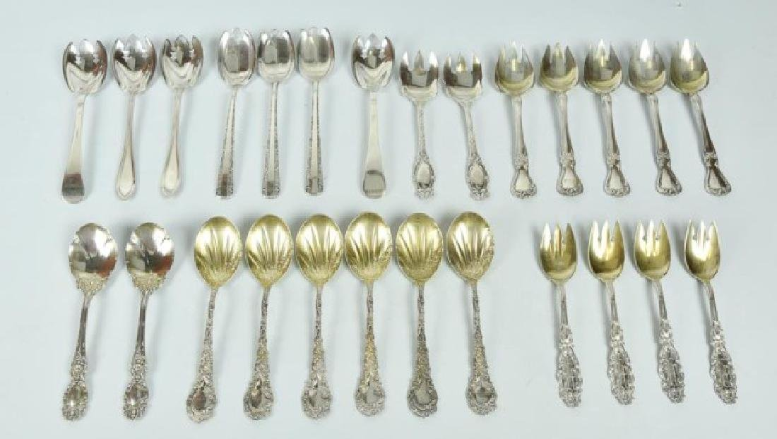 Assorted Sterling Ice Cream Spoons & Sporks