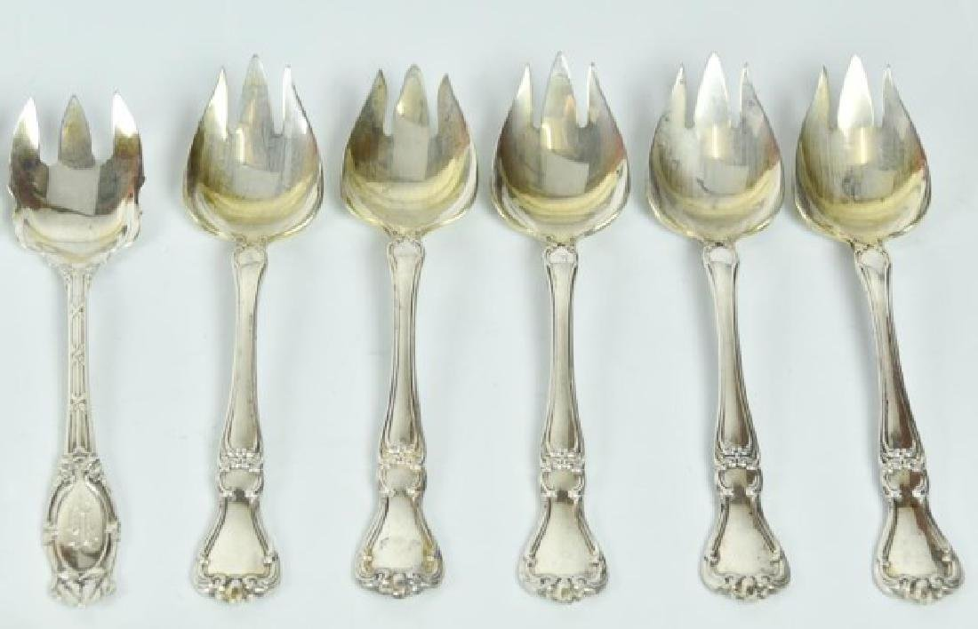 Assorted Sterling Ice Cream Spoons & Sporks - 4