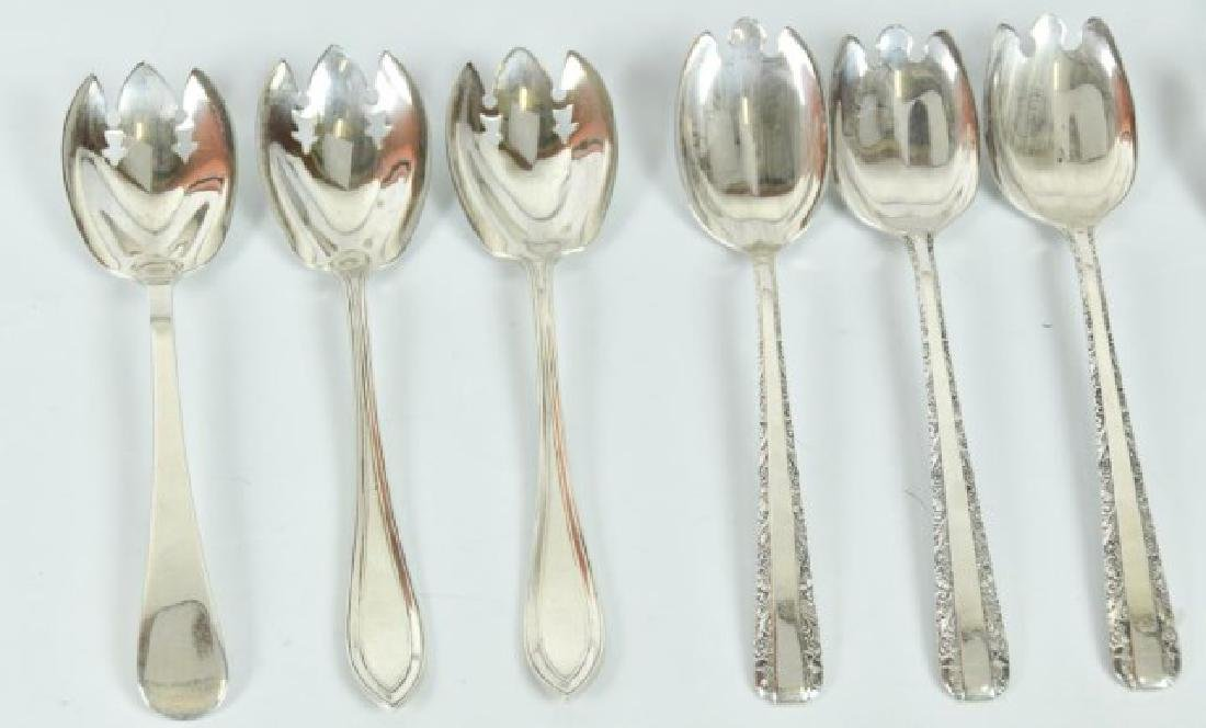 Assorted Sterling Ice Cream Spoons & Sporks - 5