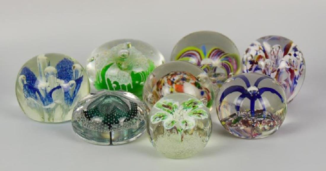 Eight Glass Paperweights