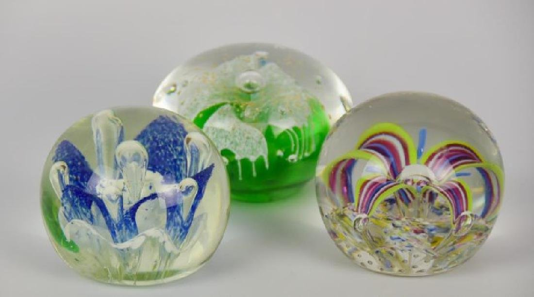 Eight Glass Paperweights - 3