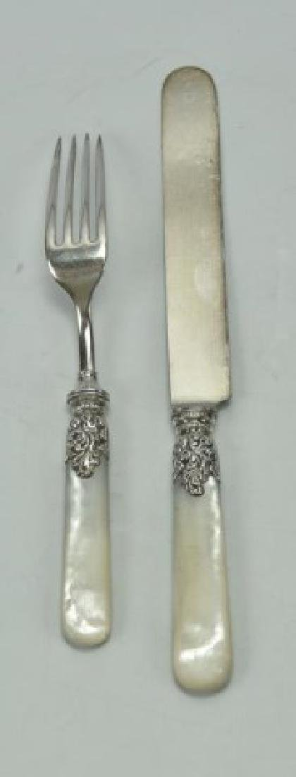 Service for 12 Sterling & Mother of Pearl Flatware - 2