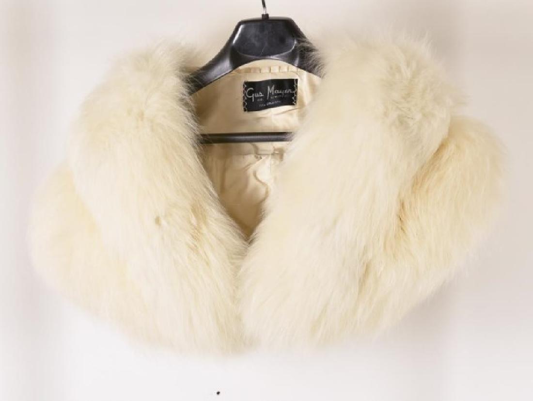 Fox Fur Shrug w/ Rhinestone Clasp & Stole