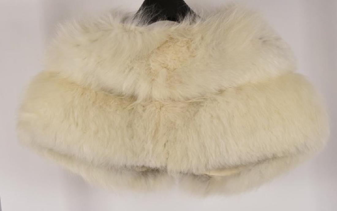Fox Fur Shrug w/ Rhinestone Clasp & Stole - 2