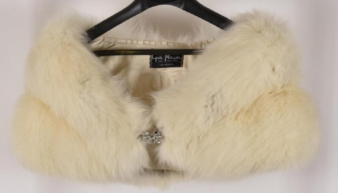 Fox Fur Shrug w/ Rhinestone Clasp & Stole - 3