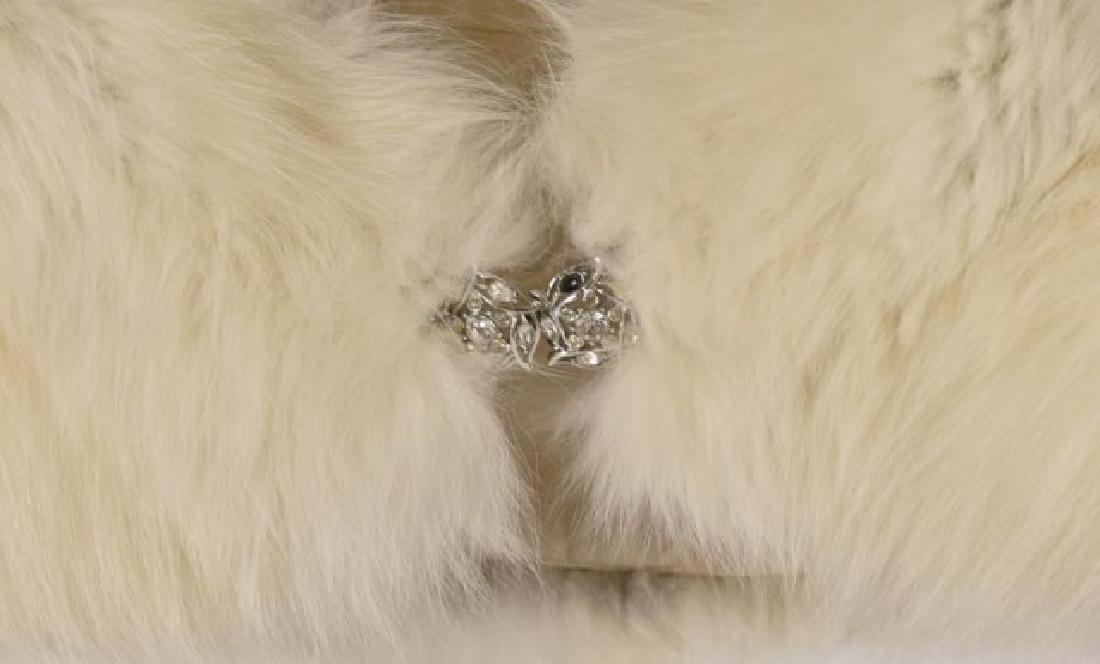 Fox Fur Shrug w/ Rhinestone Clasp & Stole - 5