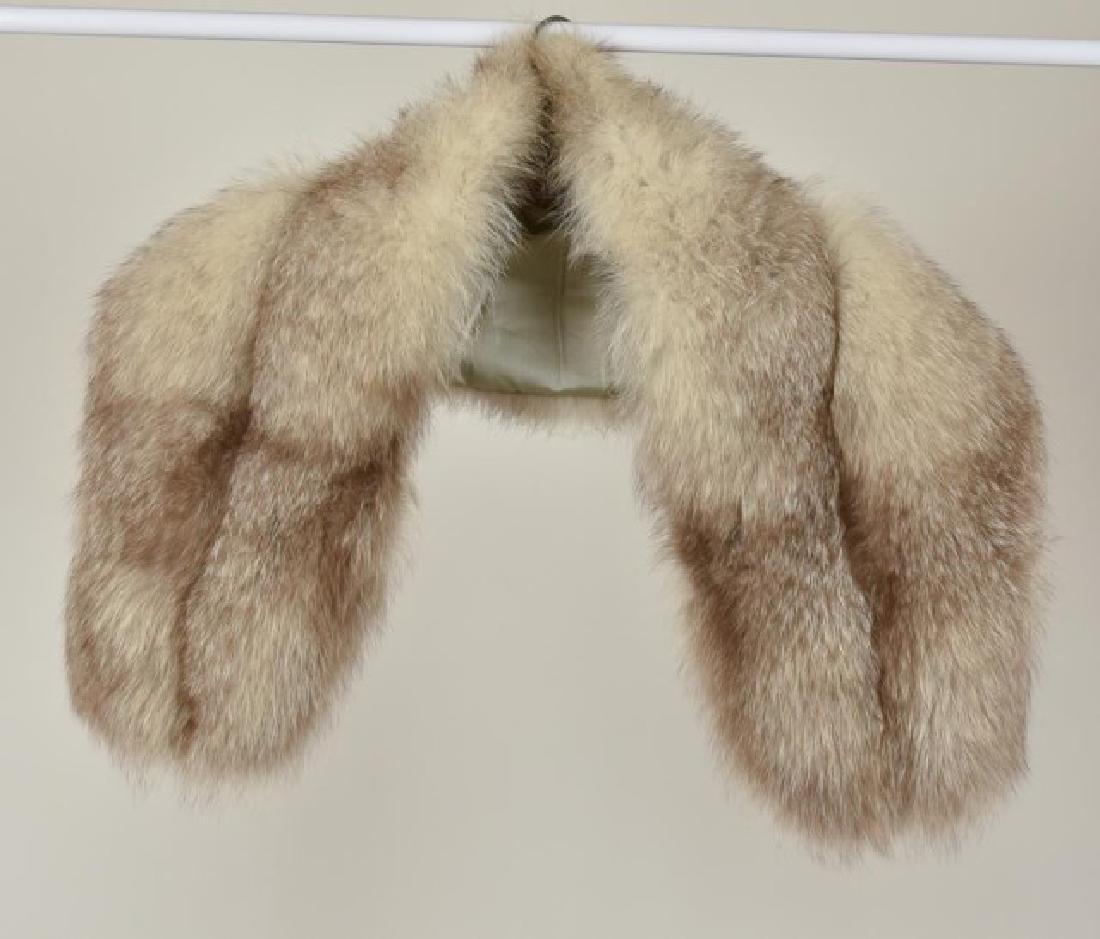 Fox Fur Shrug w/ Rhinestone Clasp & Stole - 6