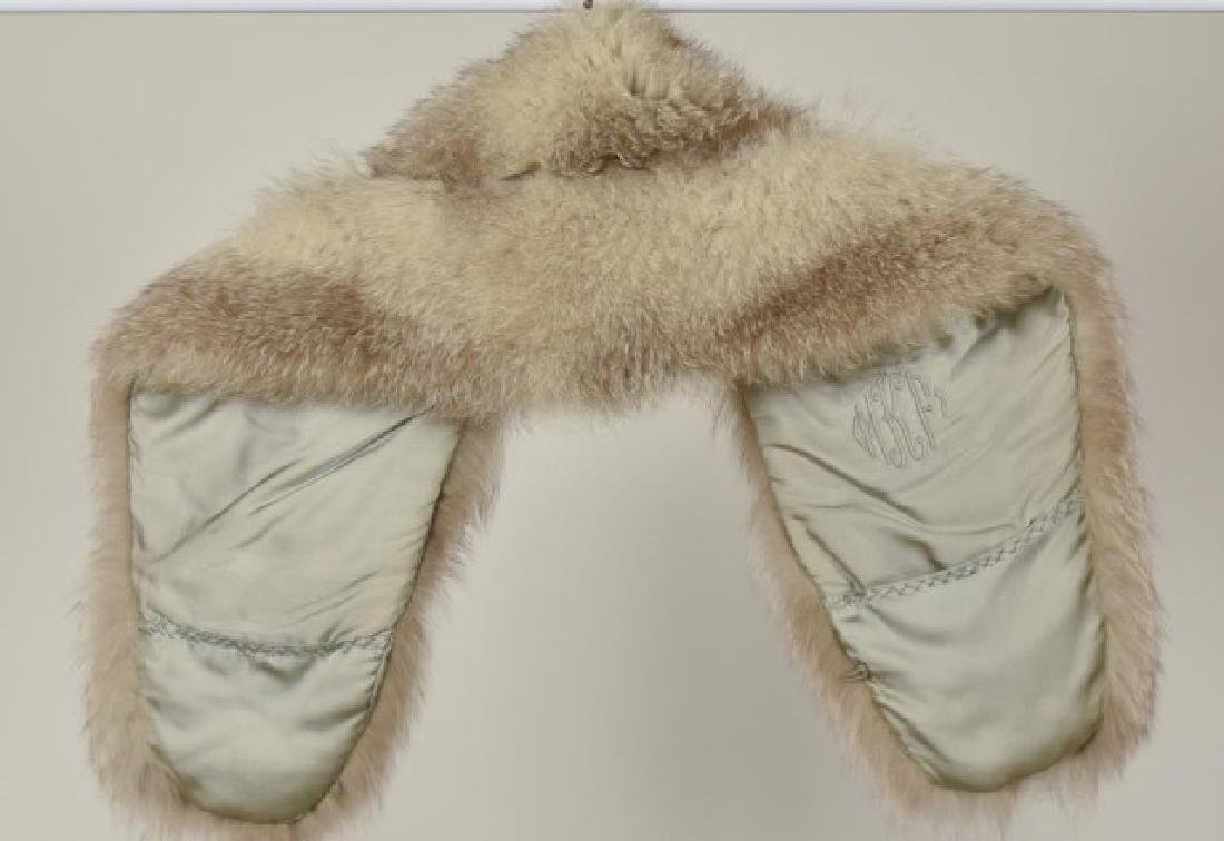 Fox Fur Shrug w/ Rhinestone Clasp & Stole - 7