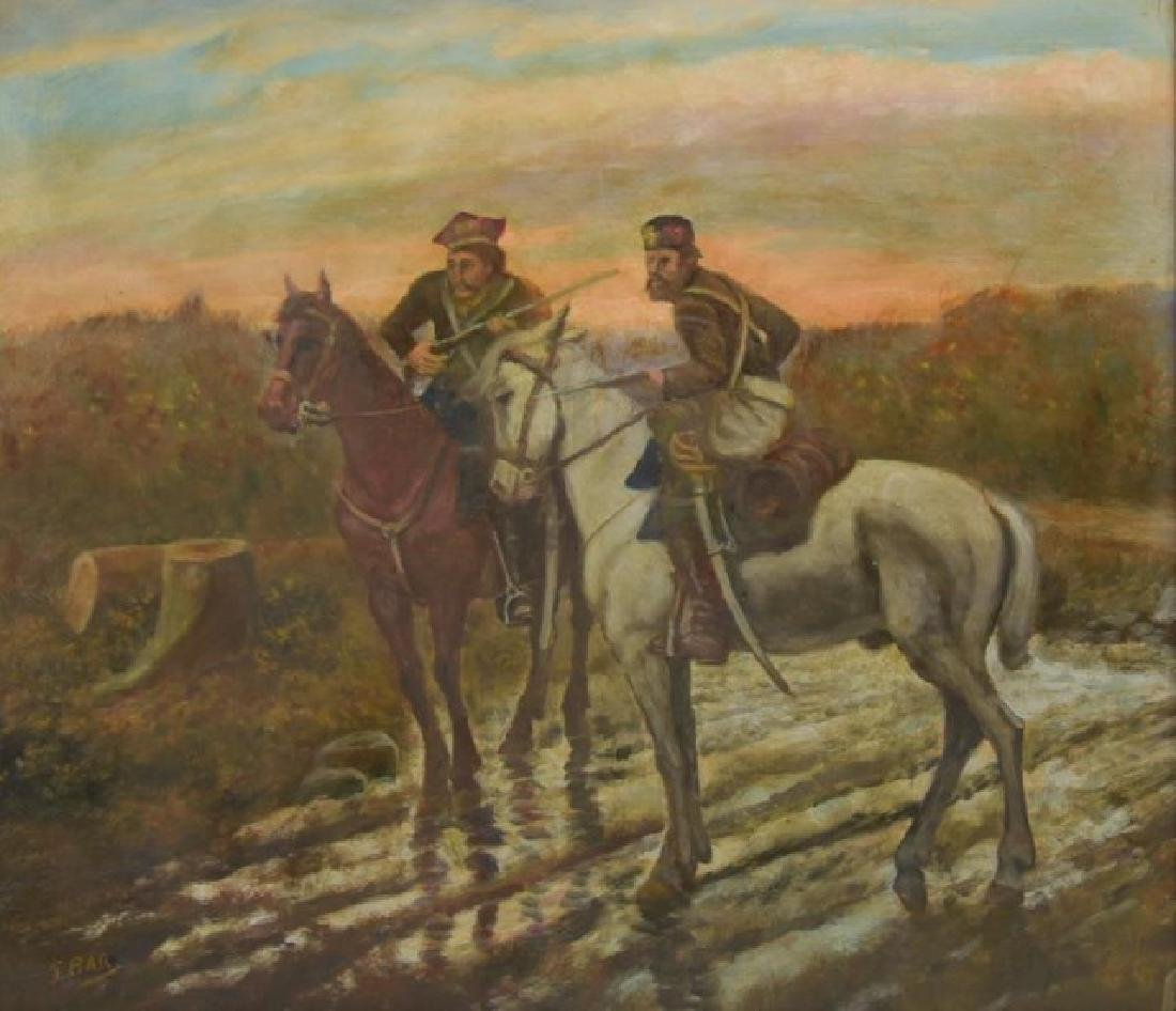 Signed Painting, Russian Soldiers on Horseback - 2