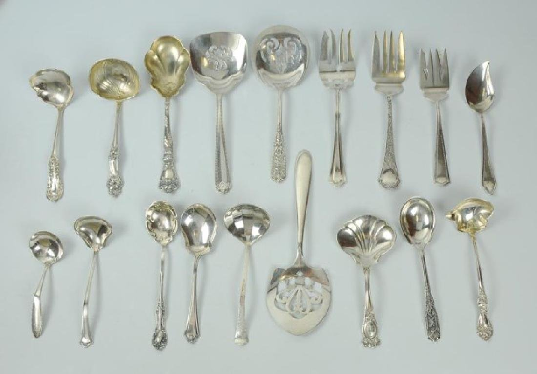 18 American Sterling Silver Serving Pieces