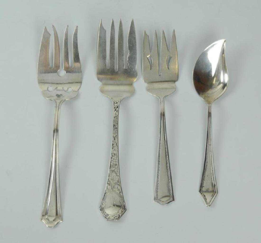 18 American Sterling Silver Serving Pieces - 4