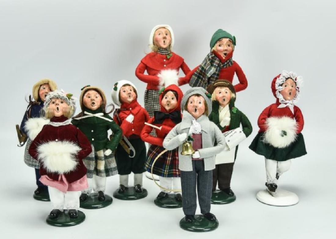 10 Byers Choice Christmas Figures