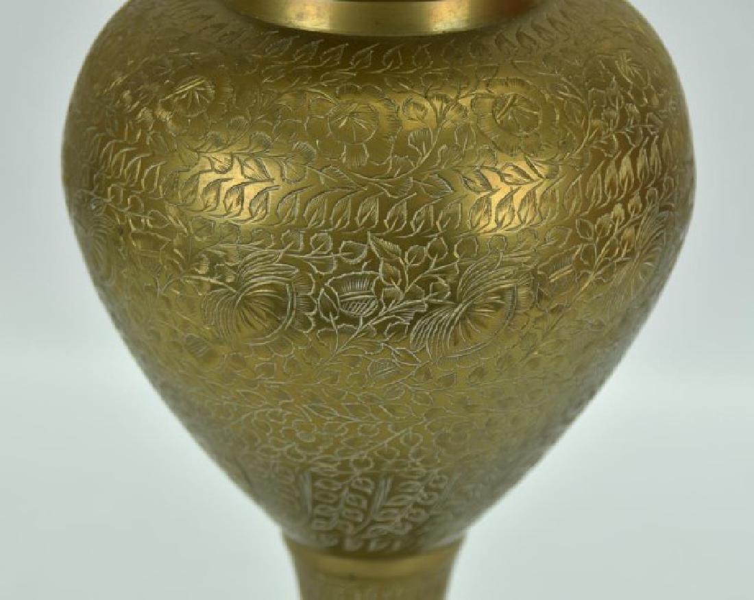 Pr. of Large Persian Brass Vases - 4