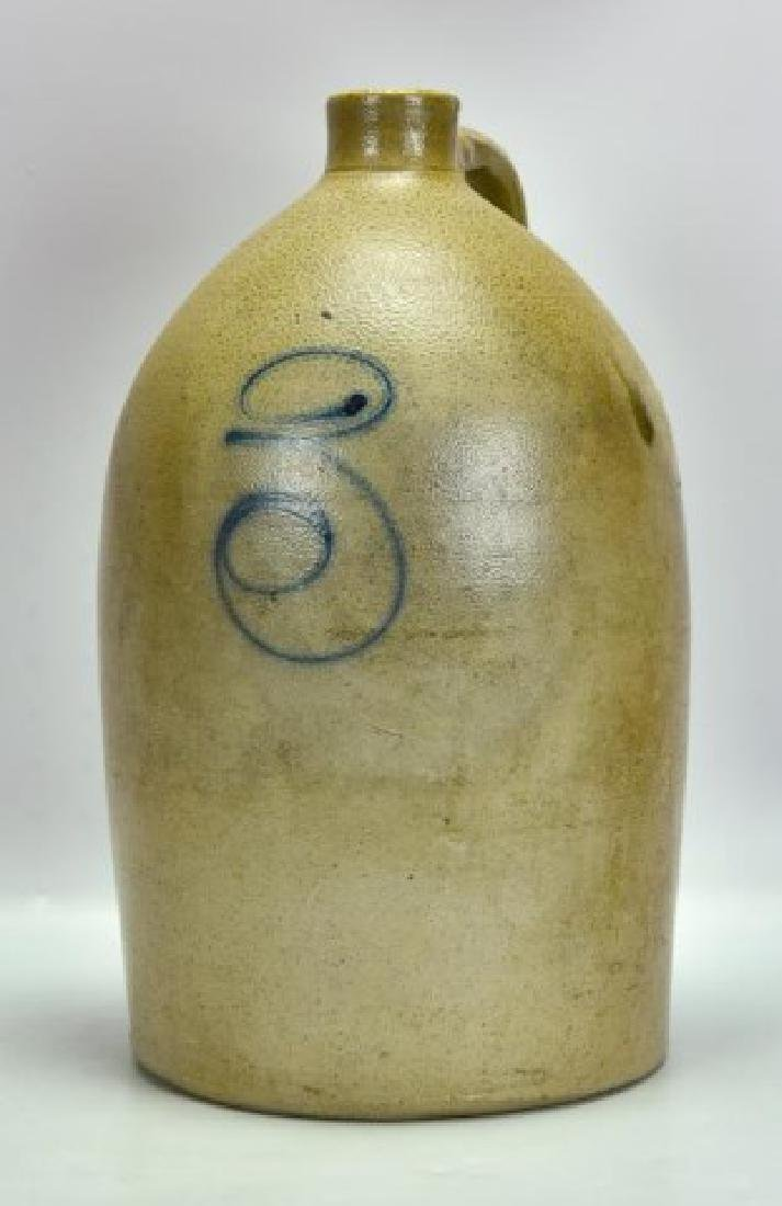 Salt Glazed 3-Gallon Stoneware Jug, Signed