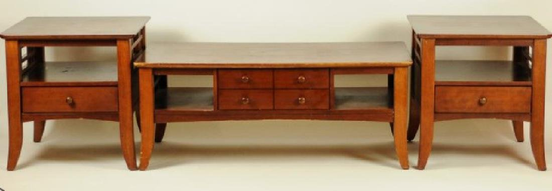 Pair of Side Tables w/ Matching Coffee Table
