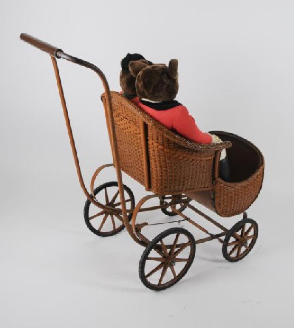 Early Baby Carriage & Pr. Fox Hunting Dolls - 5