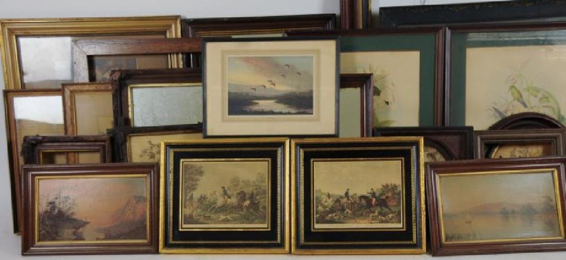 Lot of 34 Frames, Late 19th / Early 20th Century - 8