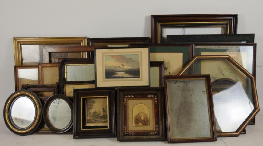 Lot of 34 Frames, Late 19th / Early 20th Century - 9